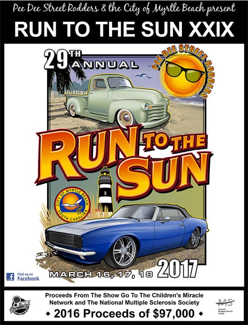 Contact to register Run to the Sun Car Show