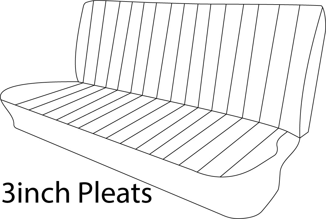1960 66 Chevy Gmc Truck Vinyl Cloth Bench Seat Cover 3inch