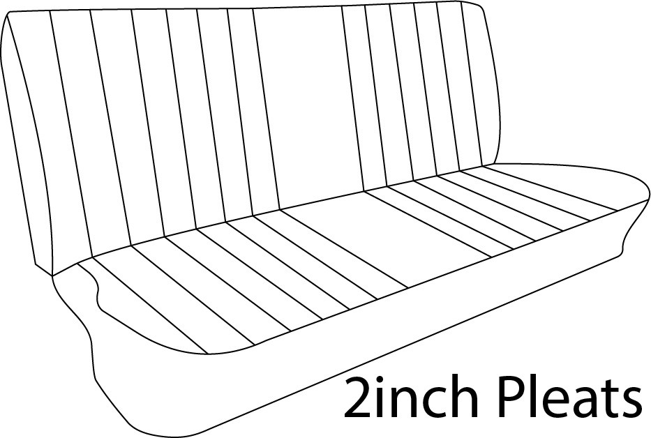 1967-72 Ford Truck Vinyl Bench Seat Cover 2inch Pleats