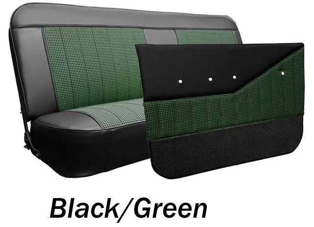 1969-72 Chevy & GMC Truck Houndstooth Bench Seat Cover & Door Panel Kit