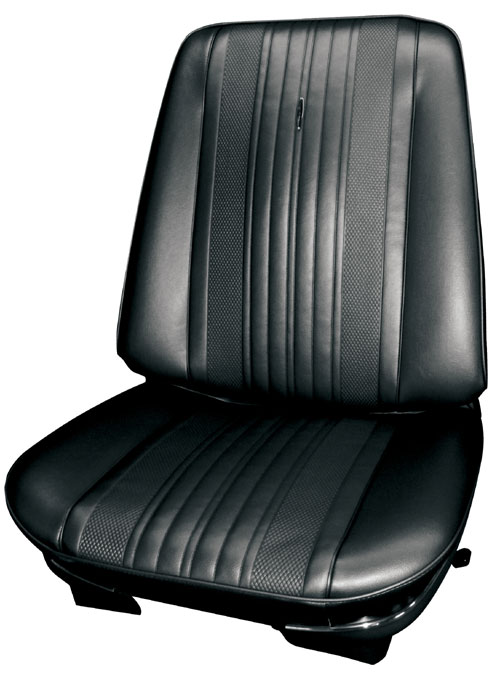 Chevelle Front Bucket Seat Covers Black