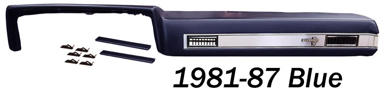1981 87 Fullsize Chevy Truck Silverado Vinyl Dash Pad Kit