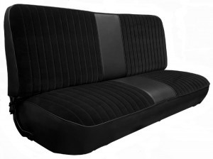 1973-79 F-Series Ford Truck Vinyl & Cloth Bench Seat Cover 2inch Pleats